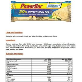 PowerBar Protein Plus 30% Riegel Box Vanilla-Coconut 15 x 55g